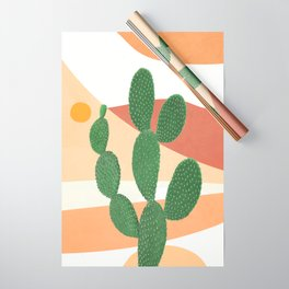 Abstract Cactus II Wrapping Paper