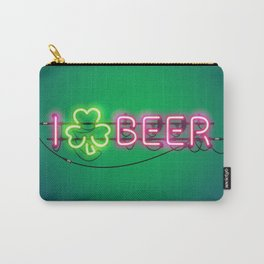 I Like Beer Neon Sign Carry-All Pouch
