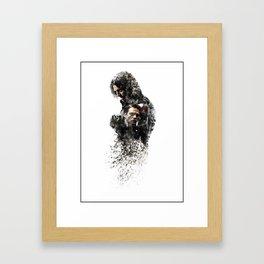 Winter Soldier Sebastian Stan Digital Fan Art Ink-Blot Framed Art Print