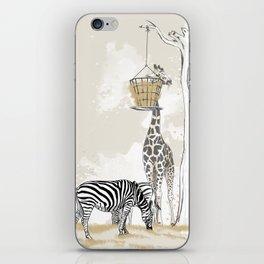 Zoo : Tigre, Zèbre, Girafe iPhone Skin