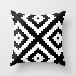Tribal B&W Throw Pillow