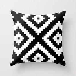 Tribal B&W Throw Pillow