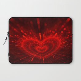Cupid's Arrows | Valentines Day | Love Red Black Heart Texture Pattern Laptop Sleeve
