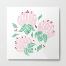 Blush Bloom Peony Blossom Metal Print
