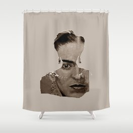 FRIDA - SHIRT version - sepia Shower Curtain