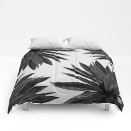 Agave Cactus Black & White Comforters