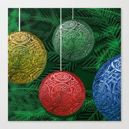 Celtic Ornaments on The Tree Canvas Print