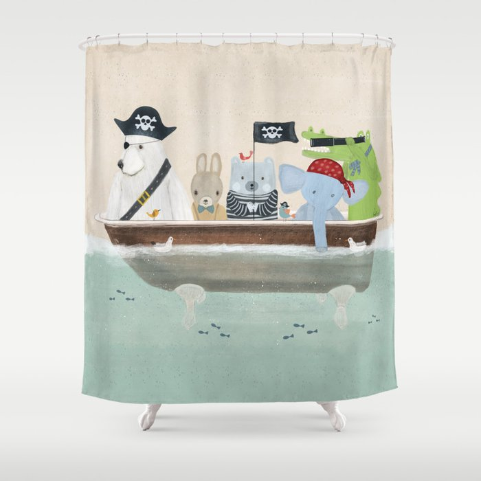 The Pirate Tub Shower Curtain