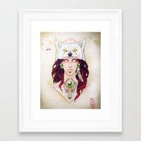 mononoke Framed Art Prints featuring Mononoke by Electricalivia