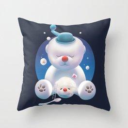 Bichon Ice Shaver Throw Pillow