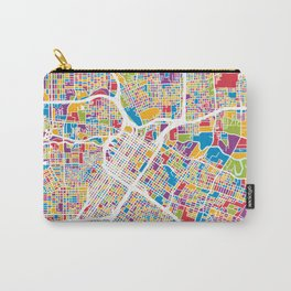 Houston Texas City Street Map Carry-All Pouch