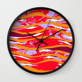 Marbled Collage Ripples - Sarah Bagshaw Wall Clock