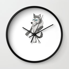 Floss Dance Move Wolf Wall Clock