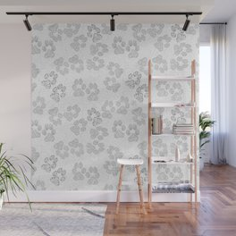 Puppy Paw Prints Wall Mural