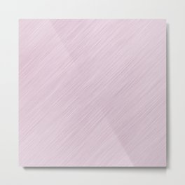 Abstract pink simple striped pattern Metal Print