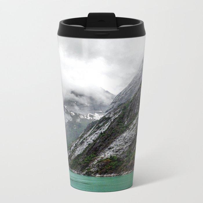 Gray Stone Mountain Metal Travel Mug