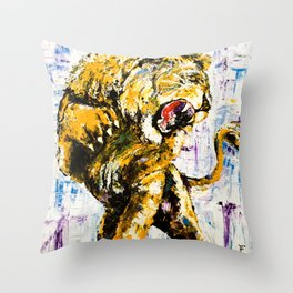 Carmine the Lion Throw Pillow