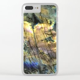 The Light of Labradorite Clear iPhone Case