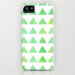 evergreen geometric pattern iPhone Case