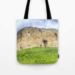York Castle And Daffodils Tote Bag