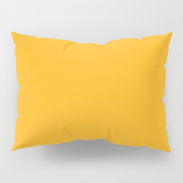 Solid Bright Beer Yellow Orange Color Pillow Sham
