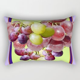 CLUSTER WINE GRAPES VINEYARD DESIGN Rectangular Pillow