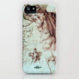 Michelangelo Buonarroti Studies for Libyan Sibyl iPhone Case