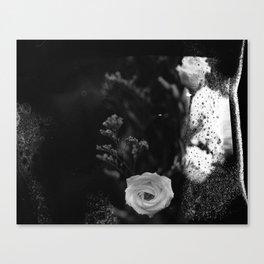 film flowers fire Canvas Print