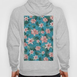 Tropical Flowers Palm Leaves Finesse #8 #tropical #decor #art #society6 Hoody