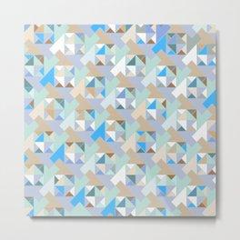 Hopscotch Algorithm (blue) Metal Print