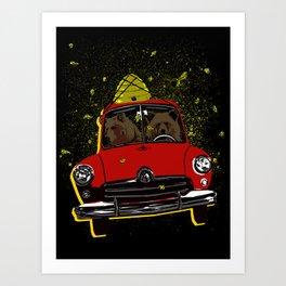 Honey Run Art Print