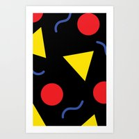 90s Art Prints featuring 90s  by kellydelrey