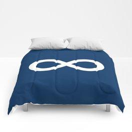 Navy Blue Infinity Comforters