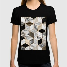 Marble Cubes 2 - Black and White T-shirt