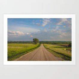 Country Road, North Dakota 2 Art Print