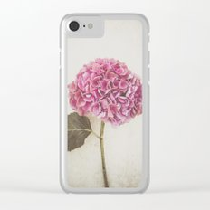 Beautiful Pink Hydrangea Clear iPhone Case