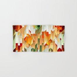 Geometric Tiled Orange Green Abstract Design Hand & Bath Towel