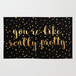 You're Like, Really Pretty - Black Gold Rug