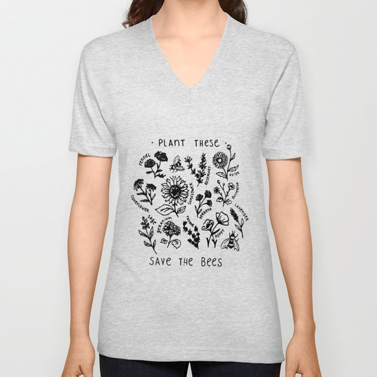 Plant these save the bees flowers t-shirt by niceshirts94