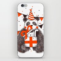 happy birthday iPhone & iPod Skins featuring Happy Birthday by Tobe Fonseca