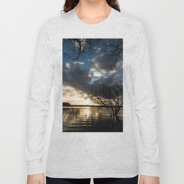 Sunset in the Los Padres lagoon. Long Sleeve T-shirt