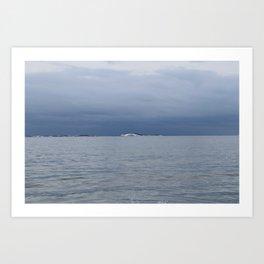 Icy Harbor Islands Art Print