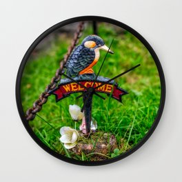 Welcome Sign Wall Clock