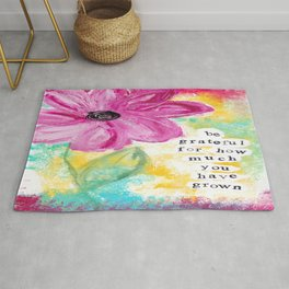 GRATEFUL FOR GROWTH Rug