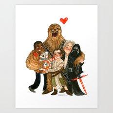 Force Awakens Hug! Art Print