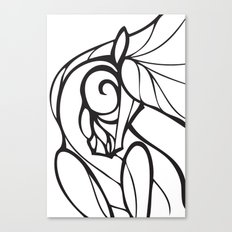 Horse Swirls 2 Canvas Print