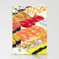 sushi Stationery Cards featuring sushi by Shihotana