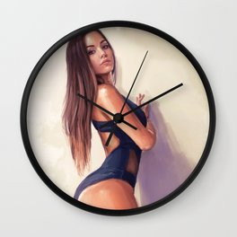 Gazing Thru Wall Clock