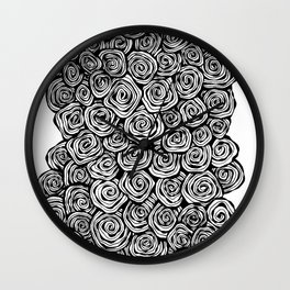 Spiral Doodle Wall Clock