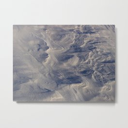 Hardened White Sand - New Mexico Metal Print